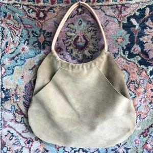 Suede Kangaroo Pocket Bag